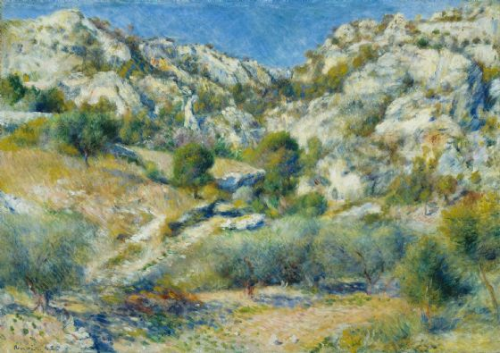 Renoir, Pierre Auguste: Rocky Crags at L'Estaque. Fine Art Print/Poster. Sizes: A4/A3/A2/A1 (004274)